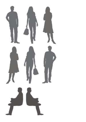 Misc humans as silhouettes