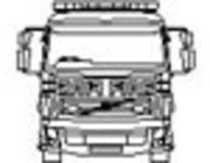 CAD Library: Fire engine front