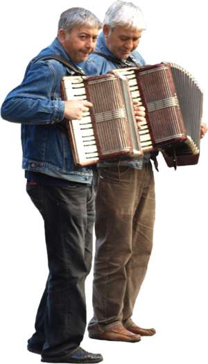 2 accordionists