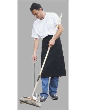 man, cleaning, apron
