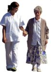 Masked Images: old woman with nurse