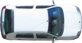 Masked Images: Car top view