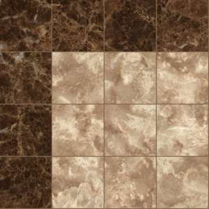 Brown marble tile corner
