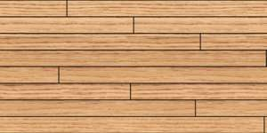 Treated wood slat